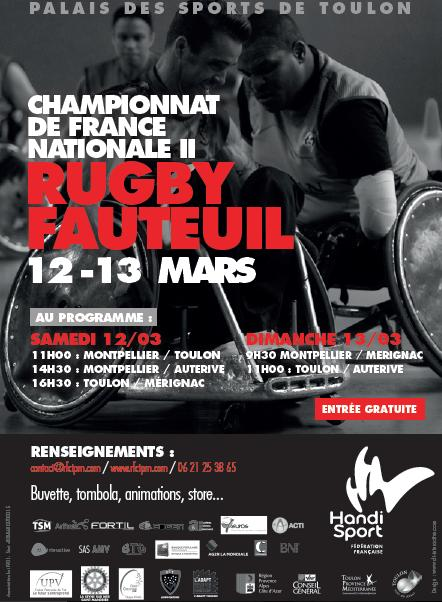 Tournoi Rugby Fauteuil - 12 & 13 mars 2016