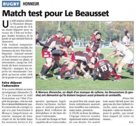 Match Test pour Le Beausset