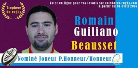 Romain GUILIANO du R.C.B. nominé !
